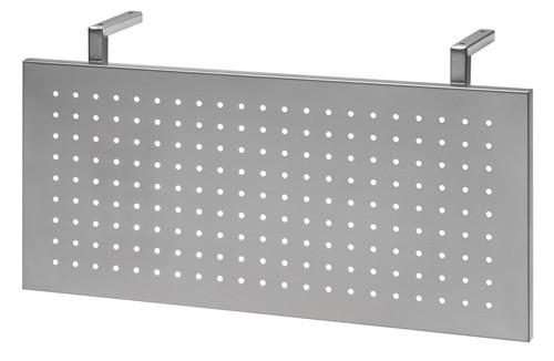 Sichtblende in Silber für Verkettungsplatte Eckwinkel Dreieck