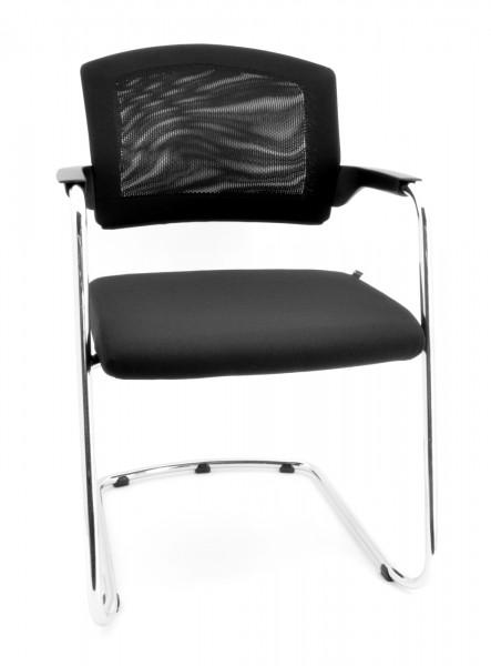 Besucherstuhl / Konferenzstuhl mit Armlehnen und auswechselbarem Sitzkissen, stapelbar