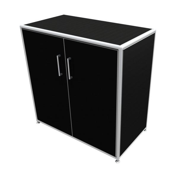 Regal 2 OH mit Türen - Bosse Modul Space - schwarz