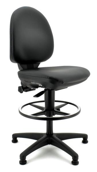 Arbeitsdrehstuhl TEC 50 mit Fußring - schwarz - Topstar