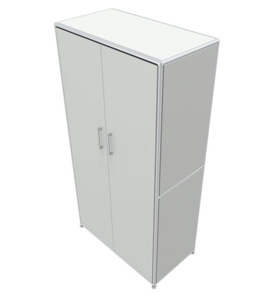 Regal 4 OH mit Türen - Bosse Modul Space - weiß