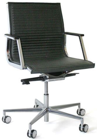 Luxy Chefsessel Nulite - Leder schwarz, Rücken niedrig