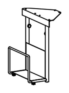 PC-Halter zur Montage unter der Tischplatte