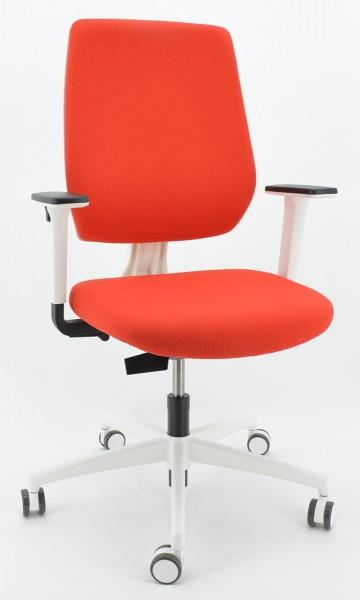Drehstuhl Trend!Office speed-o - weiß/orange-rot - Dauphin