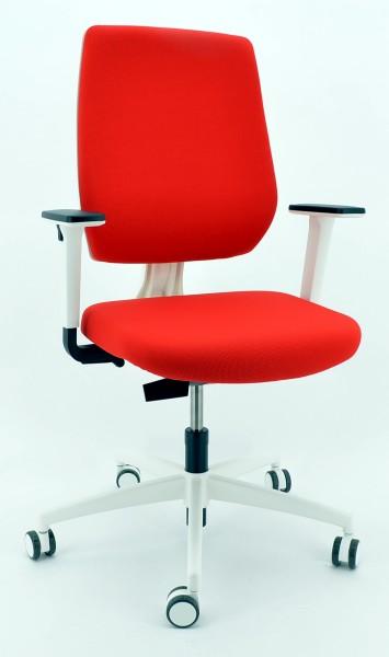 Drehstuhl Trend!Office speed-o - weiß/rot- Dauphin