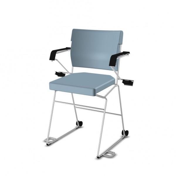 SONDERPREIS - Reha--Sessel erhöht Giroflex 33-7009-RC - Kunstleder hellblau