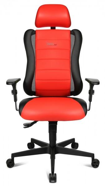 Drehstuhl Sitness RS - schwarz/rot - Topstar