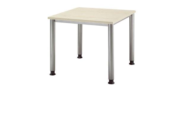 Schreibtisch gerade 80 cm, Tischfüße in Graualuminium
