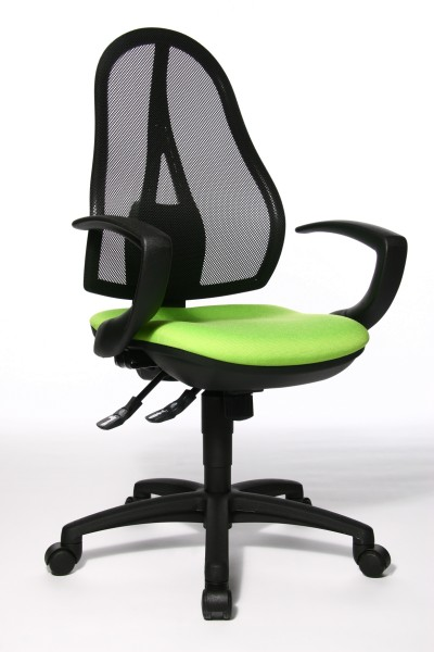 Bürostuhl Open Point SY mit Armlehnen - grün - Topstar