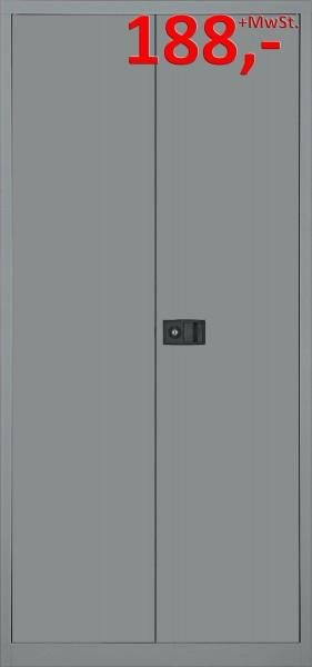Bisley Flügeltürenschrank Universal E782A04807, 5 Ordnerhöhen, stahlsilber