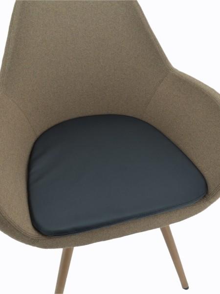 Sitzkissen - schwarz - für Besucherstuhl Fan - PROFIm