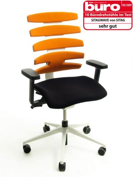 Drehstuhl Sitag Wave in orange/weiß