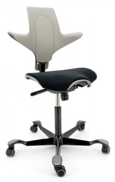 Drehstuhl Capisco Puls 8020 - clay / schwarz, inkl. Sitzflächenmatte - HAG