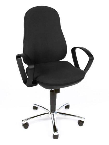 Drehstuhl Synchro Steel mit Armlehnen - schwarz - Topstar