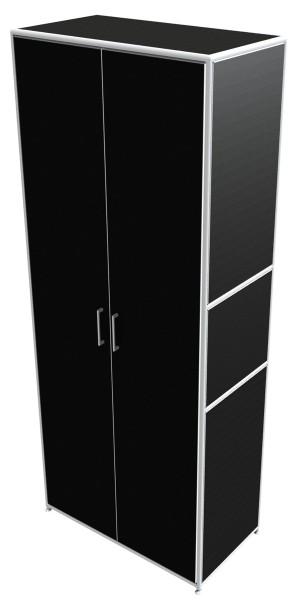 Regal 5 OH mit Türen - Bosse Modul Space - schwarz