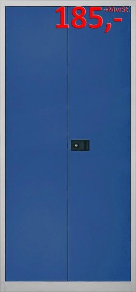 Bisley Flügeltürenschrank Universal E782A04505, 5 Ordnerhöhen, lichtgrau/oxfordblau