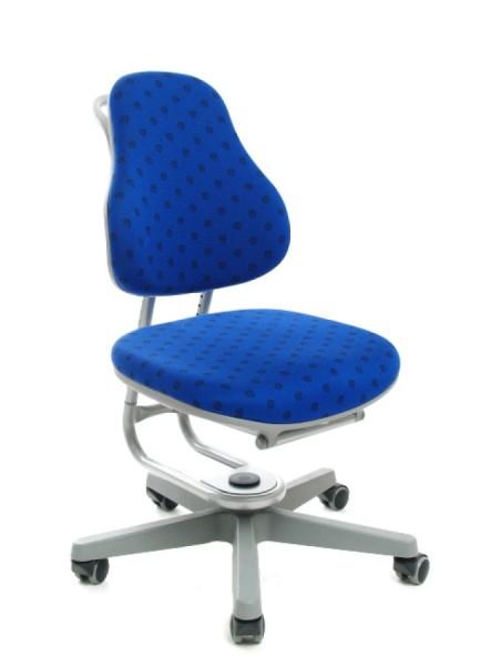 Kinderdrehstuhl BUGGY von Rovo Chair in @-Blau, Gestell Silber
