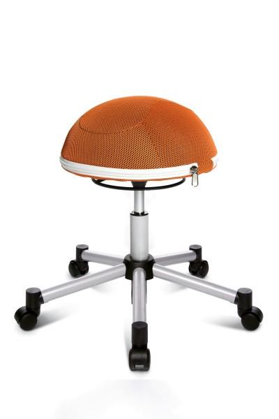 Drehhocker Sitness Half Ball - silber / orange - von Topstar