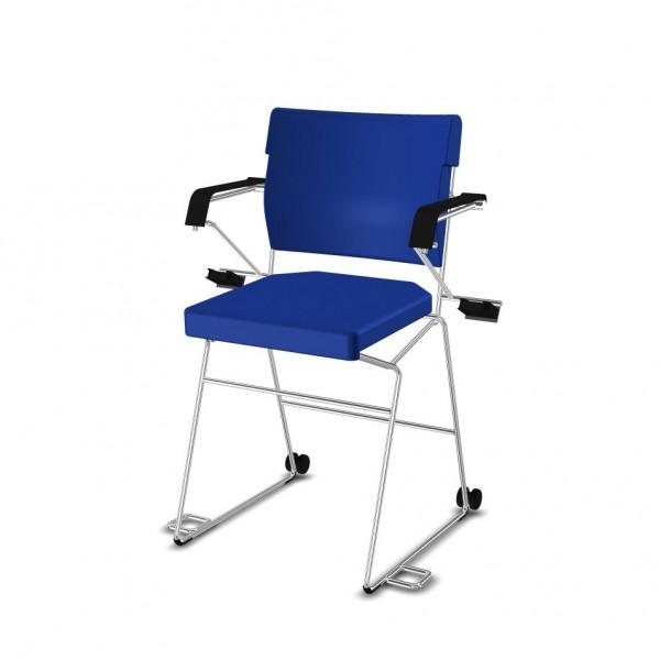 Reha--Sessel erhöht Giroflex 33-7009-RC - Kunstleder blau