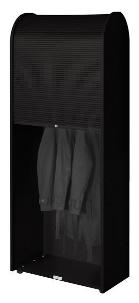 Garderobenschrank Roll-Up - schwarz - Siqnatop