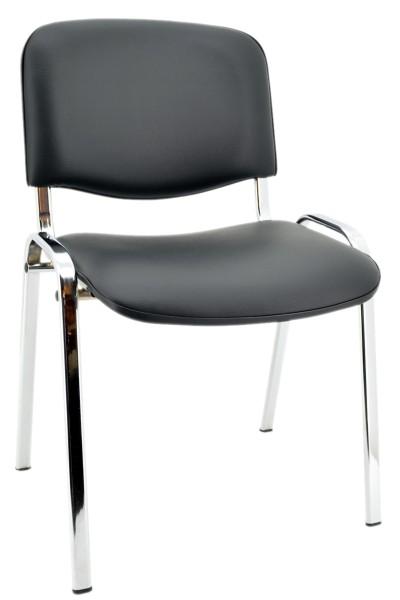Konferenzstuhl ISO - Kunstleder schwarz, Chrom - Nowy Styl