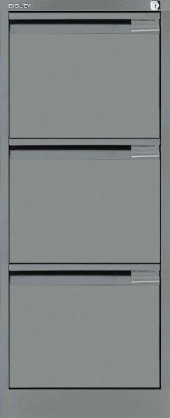 Hängeregistraturschrank mit Griffleiste, einbahnig, 3 HR-Schubladen, DIN A4
