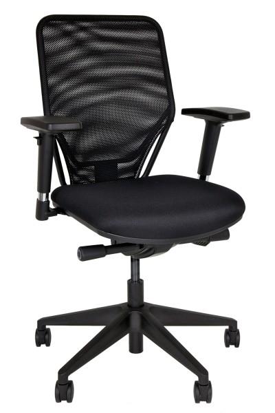 Drehstuhl Optime - schwarz, Netzrücken - Bisley Seating