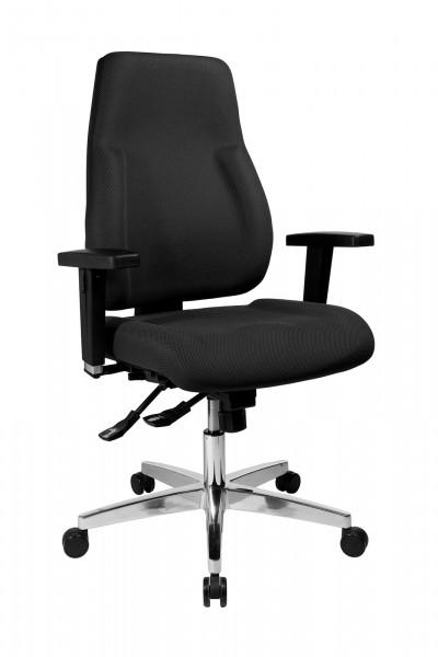 Bürostuhl P 91 mit Hartbodenrollen - schwarz - Topstar