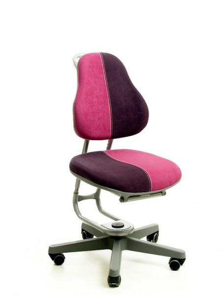 Kinderdrehstuhl BUGGY von Rovo Chair in Micro Pink/Violett, Gestell Silber