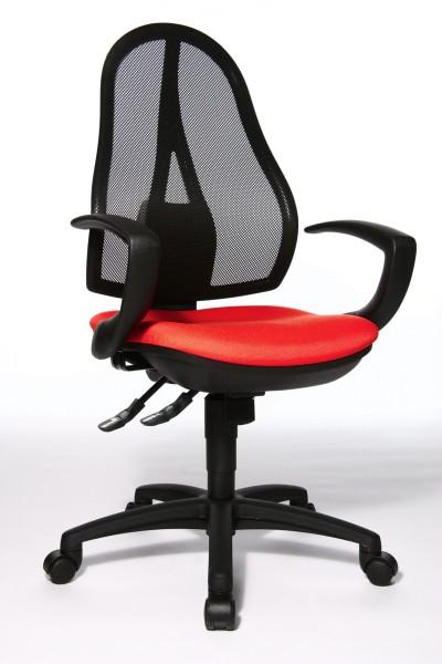 Bürostuhl Open Point SY mit Armlehnen - rot - Topstar