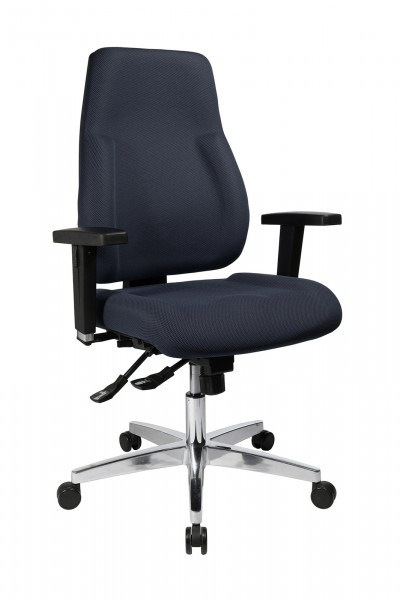 Bürostuhl P 91 mit Hartbodenrollen - grau - Topstar, lieferbar ab KW 17
