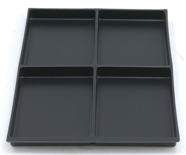 Schubladeneinsatz, 4 Fächer - 22 mm
