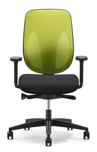 Drehstuhl Giroflex 353 - schwarz/grün