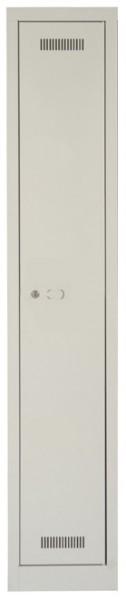 MonoBloc Garderobenschrank, 1 Abteil, einstöckig, lichtgrau