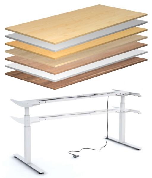Schreibtisch 200 cm, elektrisch höhenverstellbar - Heyne-Ergo-Aktiv