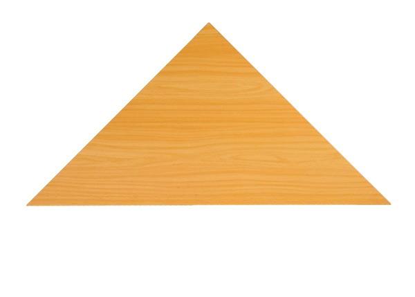 Callcenter Eckplatte Dreieck 80 cm