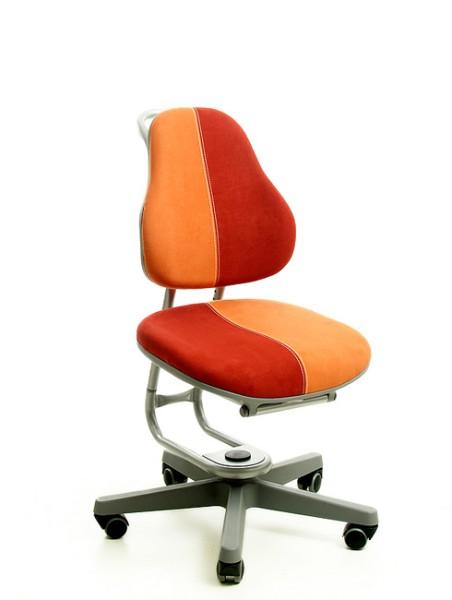 Kinderdrehstuhl BUGGY von Rovo Chair in Micro Rot/Terra, Gestell Silber