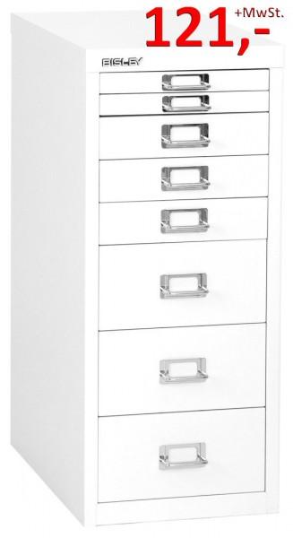 Bisley Schubladenschrank Multidrawers L298625, 8 Schubladen, DIN A4, reinweiß