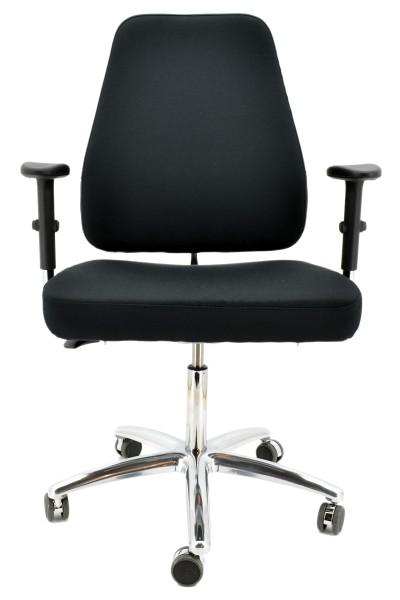Drehstuhl Perfekt XXL - schwarz - bis 220 kg - bemefa