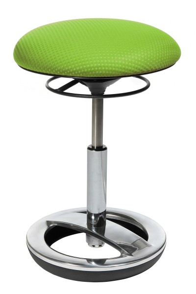 Fitness-Hocker Sitness Bob - grün, Alu poliert - Topstar, lieferbar ab KW 17