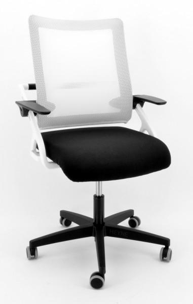 Drehstuhl Sitness 3D Star, white Edition - schwarz/weiß - Topstar