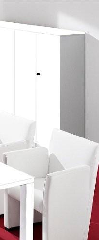 Schrank Kora - 2 Türen, 3 Böden, abschließbar - weiß - Siqnatop