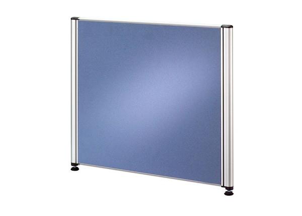Callcenter Trennwand 53 cm mit Alufunktionsrahmen, Stoffbezug in Blau