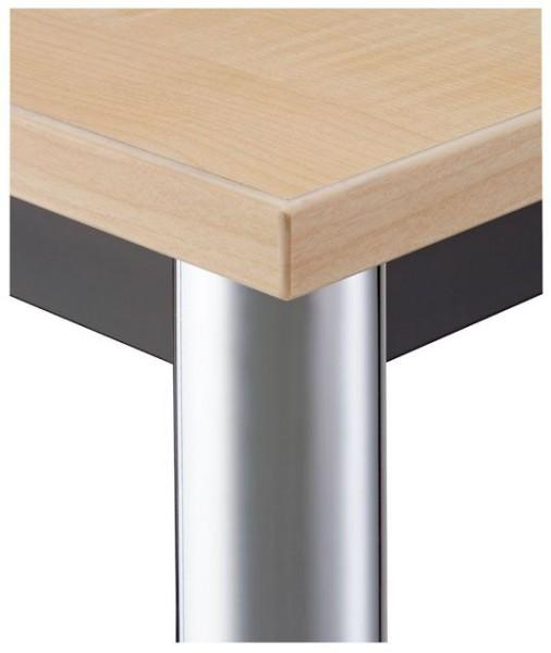 Konferenztisch gerade 160 cm, Tischfüße verchromt