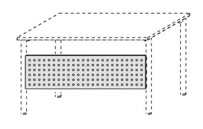 Schreibtisch-Lochsichtblende 160 cm mit Montage-Set