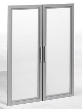 Glastüren mit Holzrahmen 3 OH, 80 cm Breite