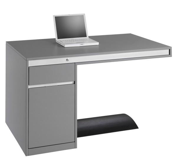 Schreibtisch Friday - 130 cm - Grau - Ultom