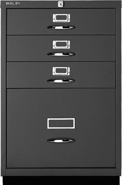 Schubladenschrank Serie F, 1 HR-Schublade, 3 Schubladen, Bügelgriff