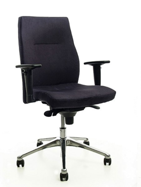 Bürodrehstuhl Nero - schwarz, Mikrofaser - Nowy Styl