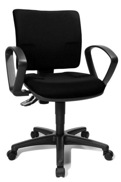 Drehstuhl U50 Small Office mit Armlehnen - schwarz - Topstar